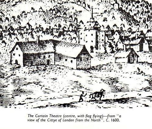 Второй по древности лондонский публичный театр — «Куртина» (The Curtain)