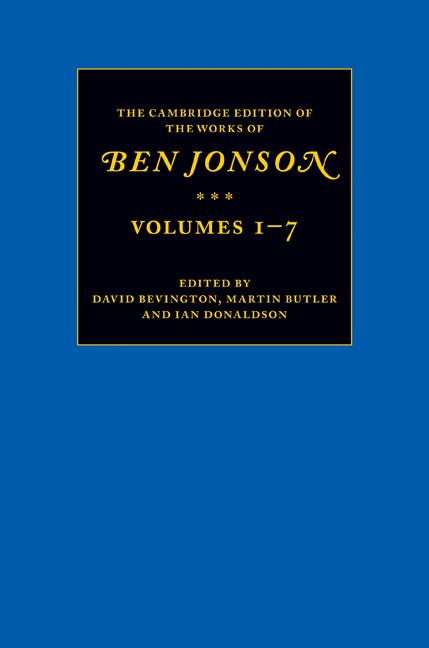 Полное собрание сочинений Бена Джонсона