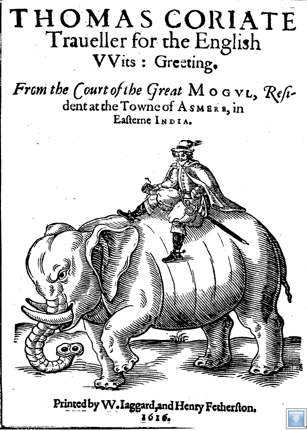 "Титульный лист памфлета ""Thomas Coriate Traveller for the English Wits Greeting…"" (1616)"