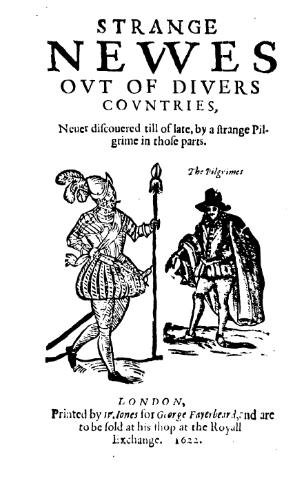 "Титульный лист памфлета Бретона ""Strange Newes Out of Divers Countries"" (1622)"