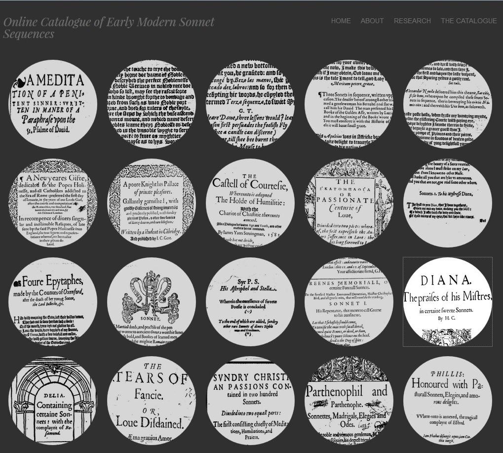 Онлайн-каталог сонетных циклов