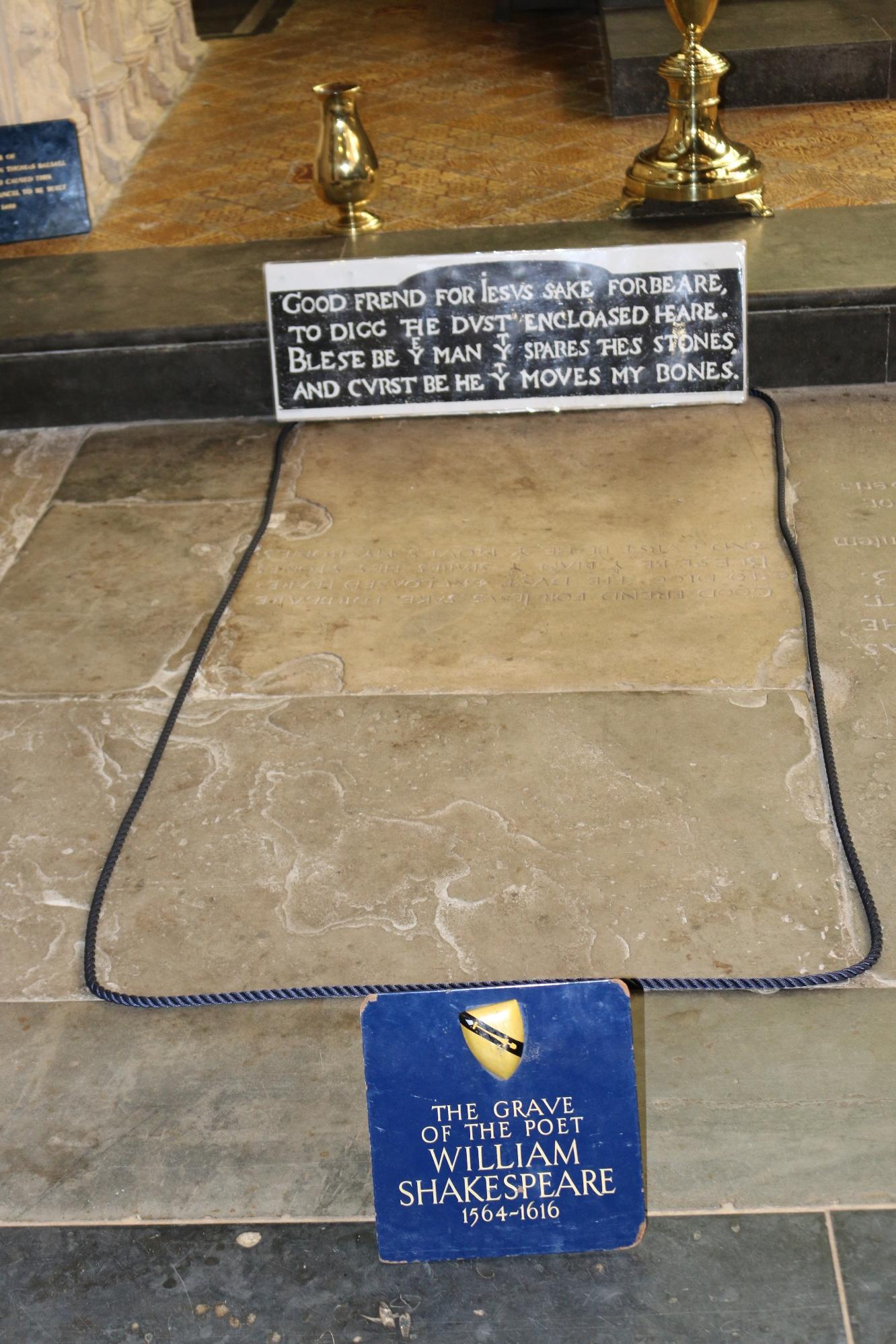 Надгробие могилы Уильяма Шекспира
