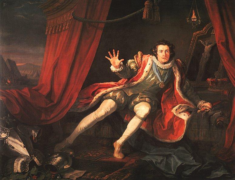 «Дэвид Гаррик в роли Ричарда III» (Уильям Хогарт, 1745; акт V, сцена 3)