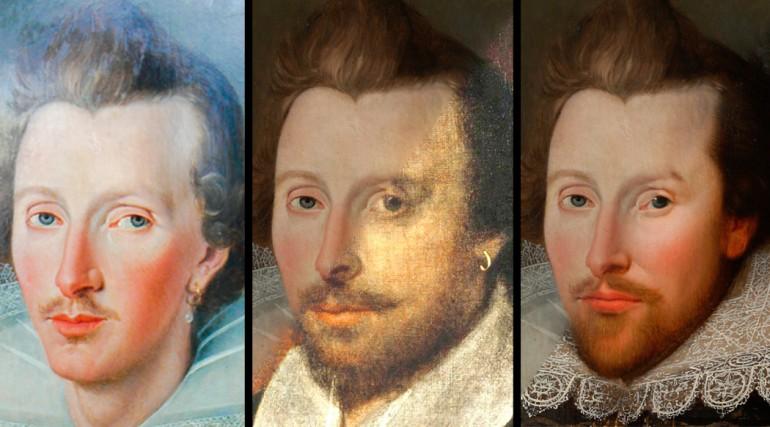 """Совмещение """"портретов Шекспира"""""""